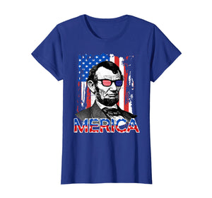 American Flag Shirt - Merica Abe Lincoln 4th of July T shirt