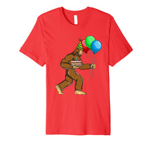 Load image into Gallery viewer, Bigfoot Birthday Cake Balloons Sasquatch T-Shirt