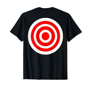 Target T Shirt funny printed on the back bulls eye gift tee