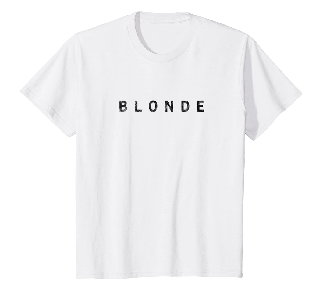 Blonde T-Shirt Best Cute Distressed Lettering Blond Tshirt