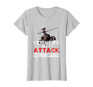 I Identify As An Attack Helicopter Funny Satire T-shirt