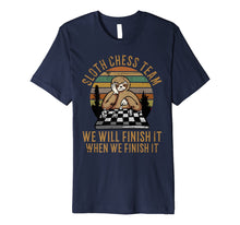 Load image into Gallery viewer, Distressed Sloth Chess Team Funny Slow Chess Players gift Premium T-Shirt
