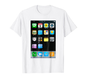 Cell Phone Smartphone Mobile App Halloween Costume T-Shirt