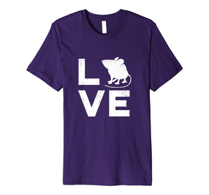 Love Mice Typography Retro Pet Mouse or Rat Gift Shirt - W