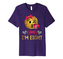 Load image into Gallery viewer, OMG I'm Eight | 8th Birthday Shirt | 8 Birthday Shirt Girl