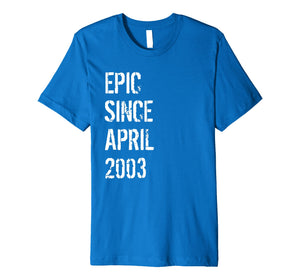 16 Year Old Gift T Shirt for Boys Girls Born April 2003