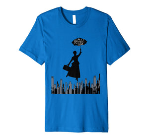 Magical Nanny a Spoonful of Sugar Flying Over London T-Shirt