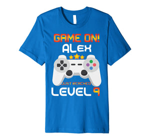 9th Birthday T-Shirt Game on Video Gamer Gift
