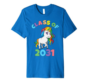 Class of 2031 First Grade Unicorn Back to School T Shirt