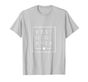 Best Gigi Ever tshirt Grandma love minimalist square design
