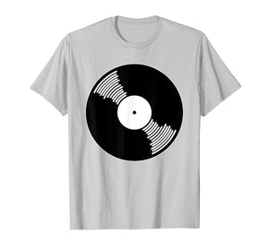 Stylish Vinyl Record Producer DJ Tee Shirt for Music Lovers
