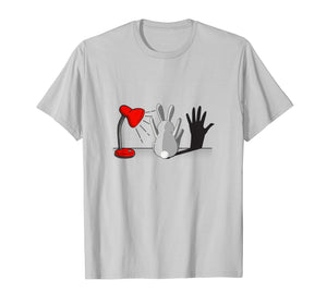 Cute Bunny With A Lamp Shade And A Hand Shadow T-Shirt
