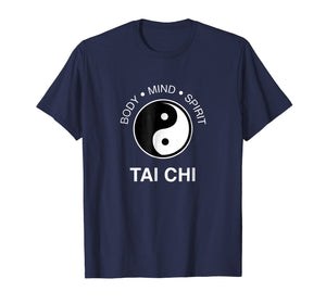 The Art Tai Chi Tshirt - Body Mind Spirit Yin Yang Tee