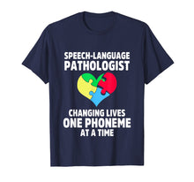 Load image into Gallery viewer, Speech Pathology Therapy Lives Autism Awareness Month TShirt