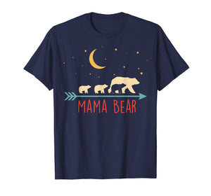 Mama Bear with 3 Cubs Shirt Triple Blessed Mama Bear TShirt