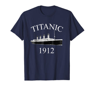 Titanic Sailing Ship Vintage Cruise Vessel 1912 T-shirt