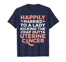 Load image into Gallery viewer, Mens Wife Fighting Uterine Cancer | Support T-Shirt for Husband