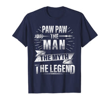 Load image into Gallery viewer, Paw Paw The Man The Myth The Legend Vintage Retro Love Shirt