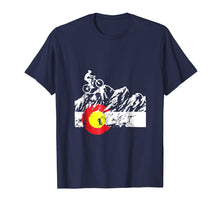 Load image into Gallery viewer, Colorado Mountain Biking - Cycling - Bicycle T-shirt