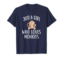 Load image into Gallery viewer, Just A Girl who loves MONKEYS T-Shirt Funny MONKEY Tee