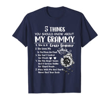 Load image into Gallery viewer, 5 things you should know about my grammy T-shirt