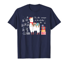 Load image into Gallery viewer, Sloth Christmas Shirt - Fa la la llama Christmas T-Shirt