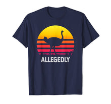 Load image into Gallery viewer, Vintage Allegedly Ostrich Tshirt- Funny Allegedly Ostrich