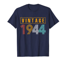 Load image into Gallery viewer, 75 Years Old 1944 Vintage 75th Birthday T Shirt Decorations