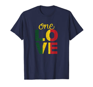One Love Jamaican T Shirt Rasta Reggae