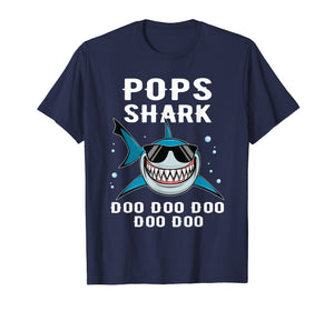 Pops Shark Tshirt Doo Doo Funny Baby Mommy Kids Tee