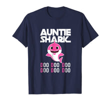 Load image into Gallery viewer, Auntie Shark T-shirt Doo Doo Doo - Family Gift T-Shirt