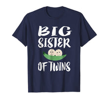 Load image into Gallery viewer, Big Sister Of Twins T-Shirt Older Sister Gift Announcement