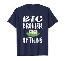 Load image into Gallery viewer, Big Brother Of Twins T-Shirt Older Brother Gift Announcement