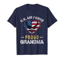 Load image into Gallery viewer, Proud Air Force Grandma T-Shirt American Flag Heart Veteran