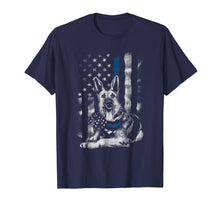 Load image into Gallery viewer, Blue Line K9 American USA Flag German Shepherd Police Shirt