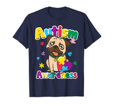 Load image into Gallery viewer, Autism Awareness T-Shirt Cute Pug Dog Puzzle Pieces Gift