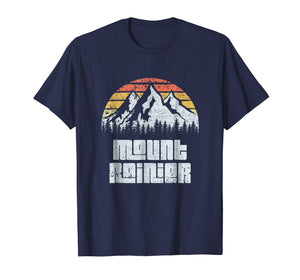 Mt. Rainier National Park Washington Mountains Retro T-shirt