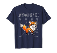 Load image into Gallery viewer, Anatomy Of A Fox Funny Animal Cartoon Veterinary T Shirt