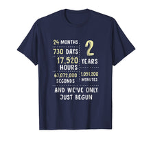 Load image into Gallery viewer, 2nd Year Anniversary Apparel Gift T-Shirt for Her or Him