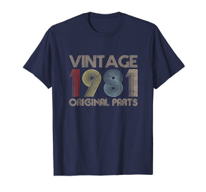 Vintage 1981 Original Parts T-Shirt 38th Birthday Gift Funny