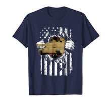 Load image into Gallery viewer, M1 Abrams Tank and American Flag Veterans T-Shirt