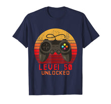 Load image into Gallery viewer, Level 50 Unlocked Funny T Shirt Video Gamer 50th Birthday