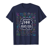 Load image into Gallery viewer, Square Root of 144 12th birthday T-Shirt for 12 years old