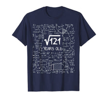 Load image into Gallery viewer, Square Root of 121: 11 Years Old, 11th Birthday Gift T-Shirt