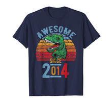 Load image into Gallery viewer, Awesome since 2014 5th Birthday Dinosaur 5 Year Old Tshirt