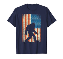 Load image into Gallery viewer, Bigfoot Sasquatch I Believe Tshirt Patriot American Flag USA