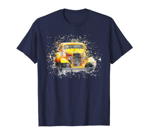 Old Vintage American Classic Car T-Shirt watercolor Retro