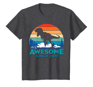 Awesome Since 2011 T-Shirt 8 Years Old Dinosaur Gift