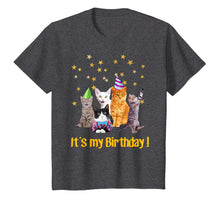 Load image into Gallery viewer, Its my Birthday cute cats Meow T-shirt