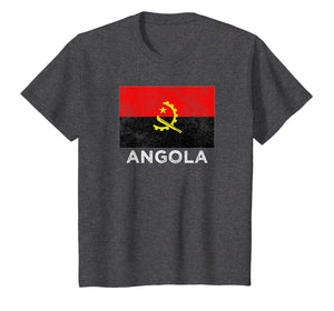 Angola National flag distressed t-shirt for men women kids